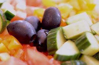 Cucumber Tomato and Pepper Salad - Easy to Make