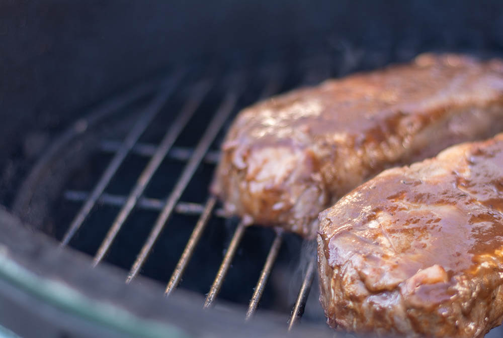 Marinated Steaks on the Grill