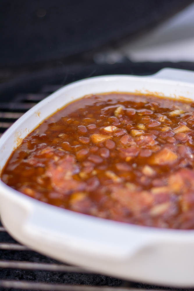 Grilled Baked Beans on the BGE