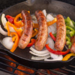 Sausage and Peppers in the Cast Iron Skillet