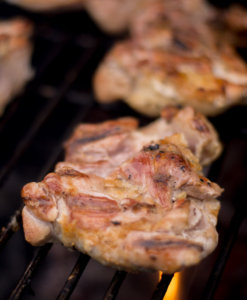 Grilled Chicken Thigh on the Big Green Egg