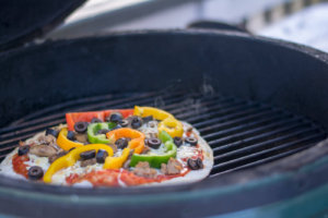 Grilled Pizza on the Big Green Egg