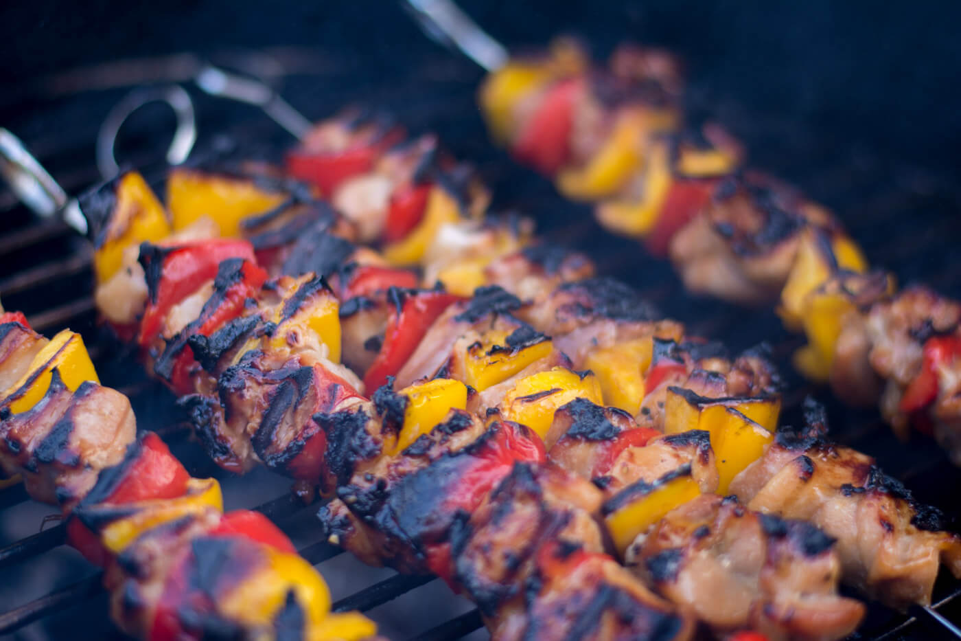 Grilled Honey Chicken Kebabs - Delicious Sear on the Big Green Egg