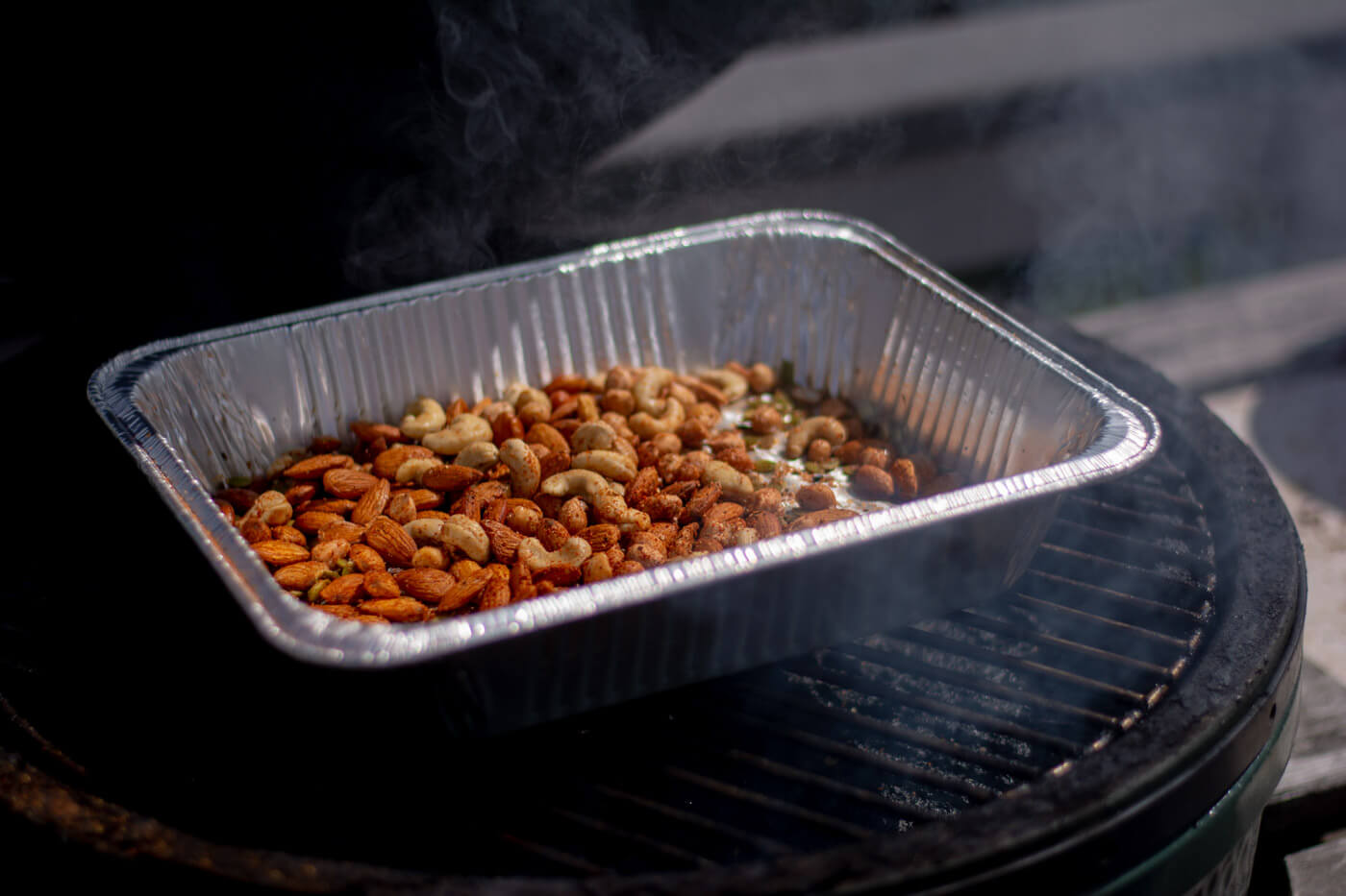 Hickory Smoke Dancing around! Learn How to Smoke Nuts on the Big Green Egg