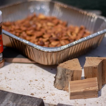 Key Ingredients for Smoked Nuts on the Big Green Egg including Seasoning of Dizzy Dust