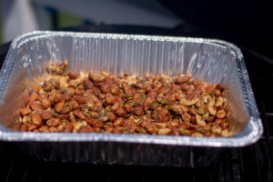 Smoked Nuts on the Big Green Egg in a Disposable Pan