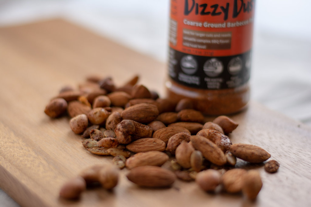Smoked Nuts with Dizzy Dust and Hickory Smoked