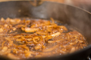 Sautéing Caramelized Onions in the Cast Iron Skillet