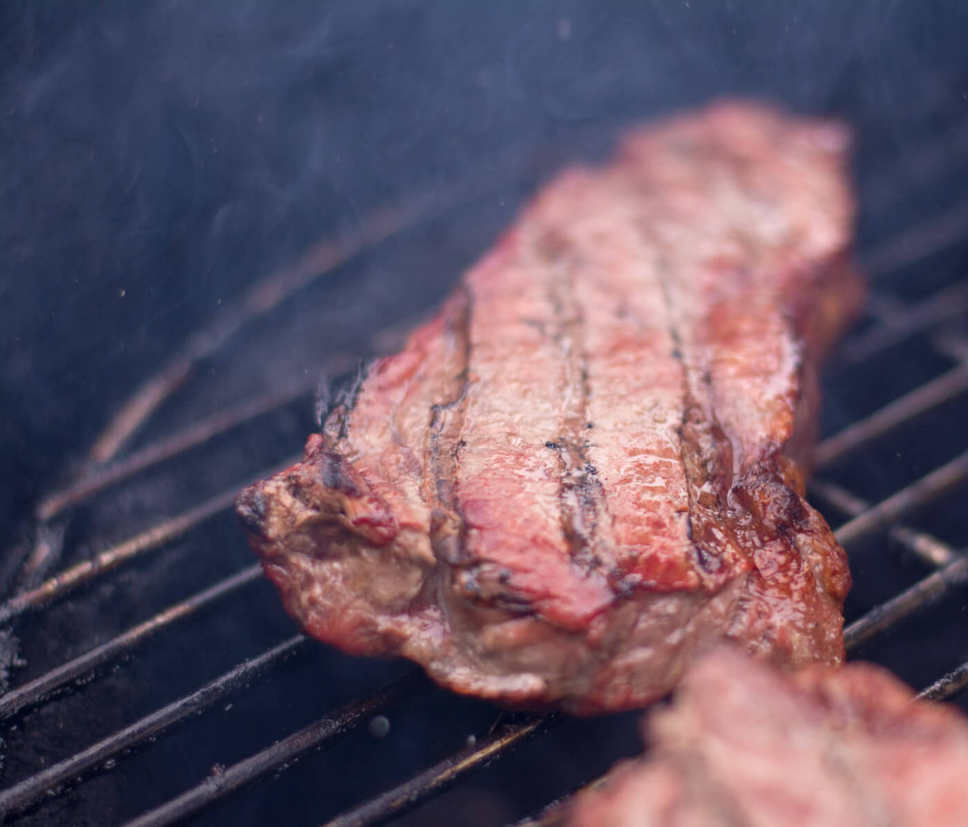 Strip Steak Grilling on the Big Green Egg - Kamado Style