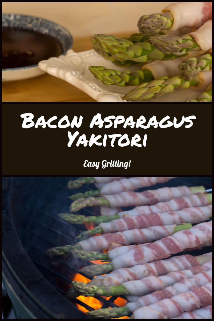 Bacon Asparagus Yakitori - Easy Japanese Grilling #japanese #grill #biggreenegg #yakitori #bacon #DELICIOUS