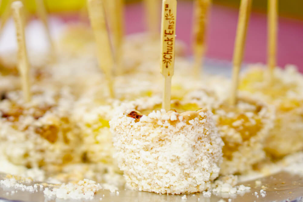 Mexican Street Corn at the EggFest with Wooden Skewers