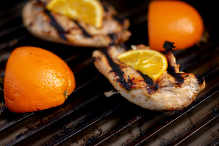 Grilled Honey Orange Chicken Recipe with Fresh Oranges