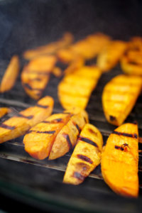 Grilled Sweet Potato Wedges on the GrillGrate