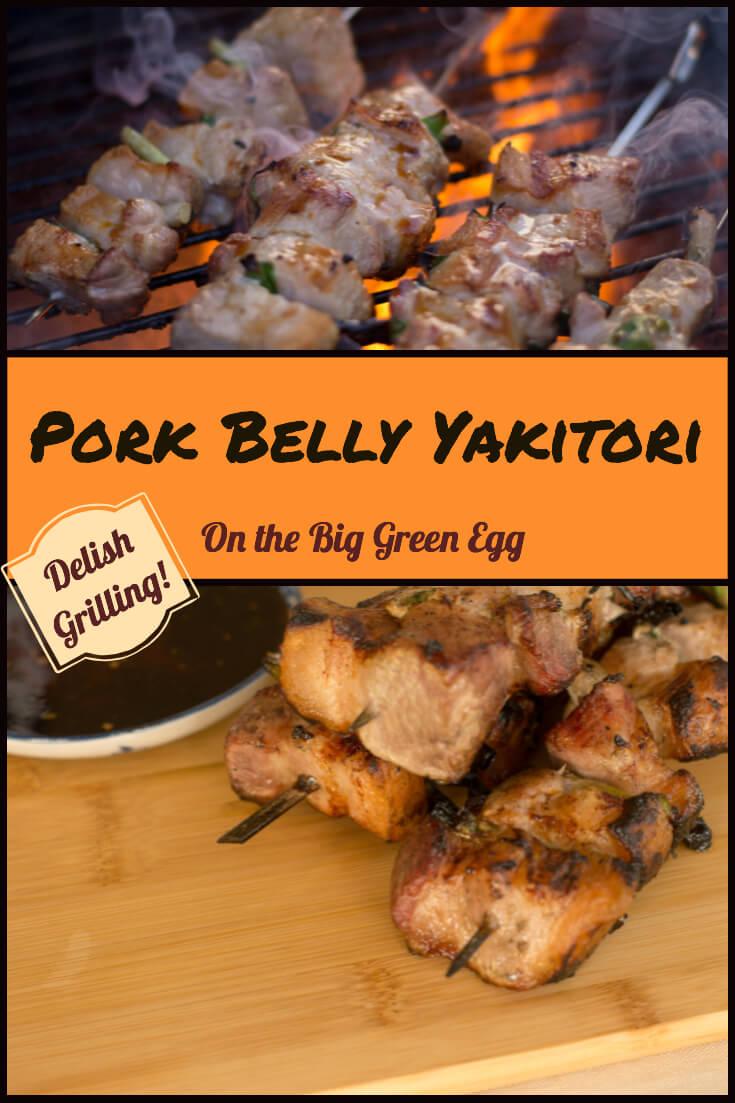 Pork Belly Yakitori #BigGreenEgg #BGE #PorkBelly #grill #grilling #Japanese