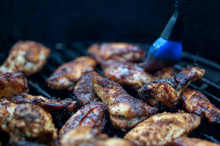 Smoked DizzyPig IPA Dry Rub Chicken Wings