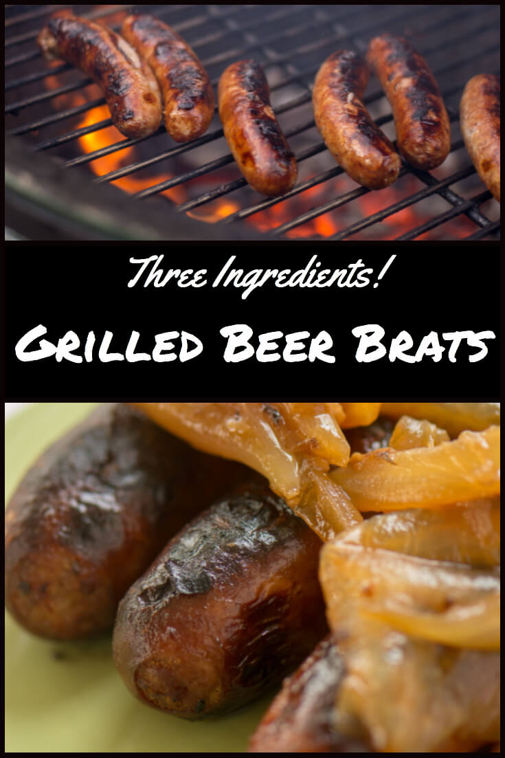 Super Easy Grilled Beer Brats - Only Three Ingredients! #biggreenegg #bge #3ingredients #brats #beerbrats #picnic #grill #grilling