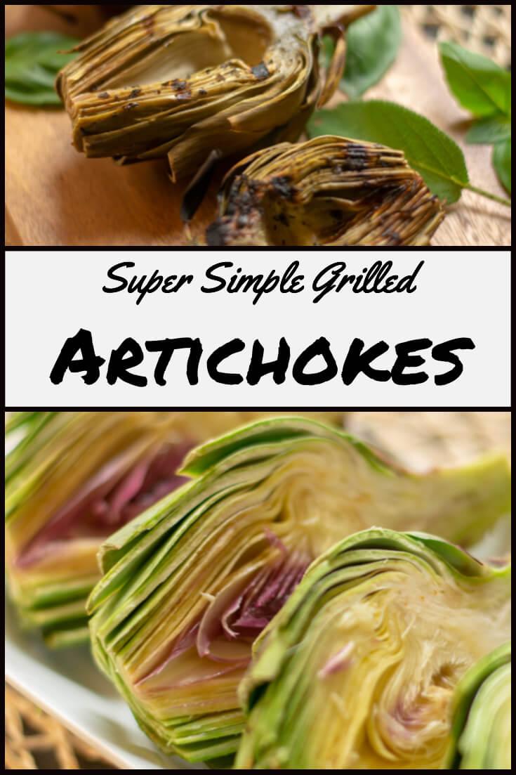 Super Simple Grilled Artichoke Recipe - Start with Instant Pot #instantpot #instapot #grill #artichoke #biggreenegg #bge #vegetables