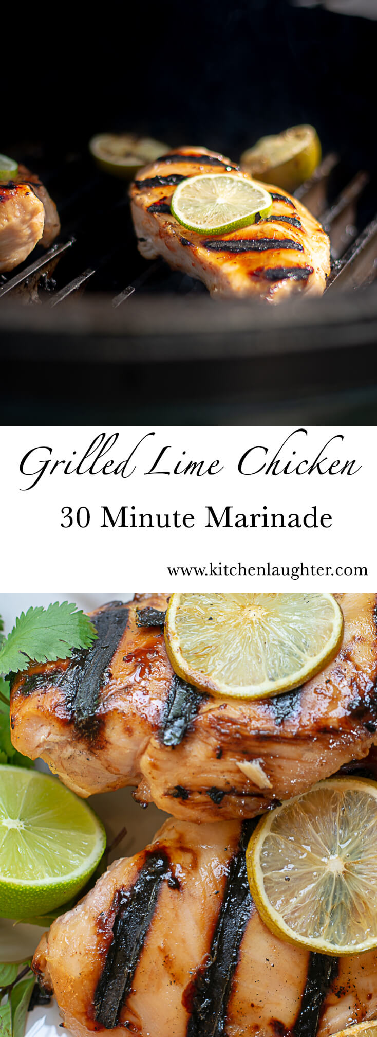 Grilled Lime Chicken with 30 Minute Marinade #LimeChicken #Grilled #BGE #BigGreenEgg #30minutemarinade #EasyGrill #grillporn #GrillGrate
