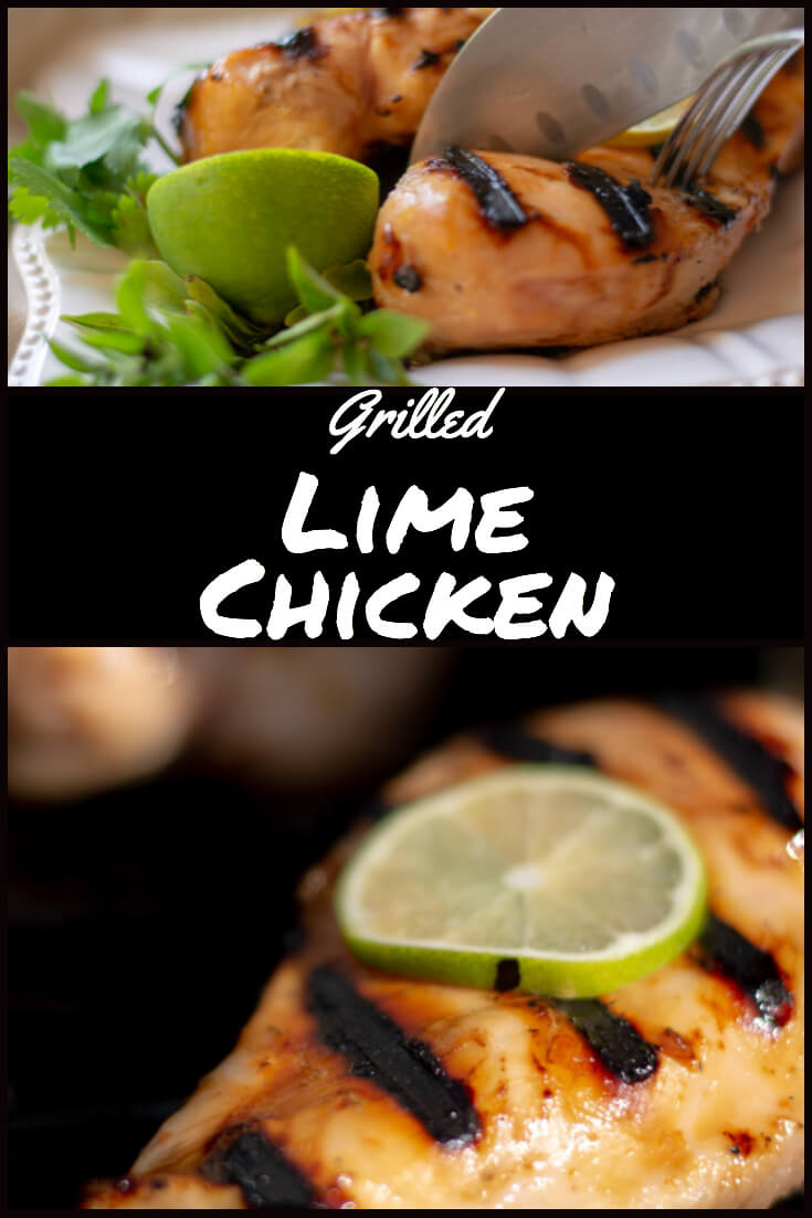 Fast Marinade - Easy Grilled Lime Chicken #BigGreenEgg #BGE #grill #grilling #GrillGrate #chicken #lime