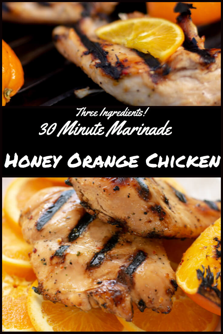 3 Ingredients - 30 Minute Marinade - Honey Orange Chicken #30minutemarinade #grill #biggreenegg #bge #3ingredients