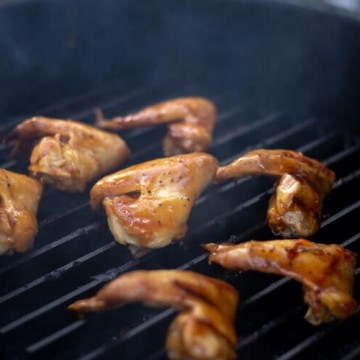 Grilled Chicken Wings with Apricot Glaze