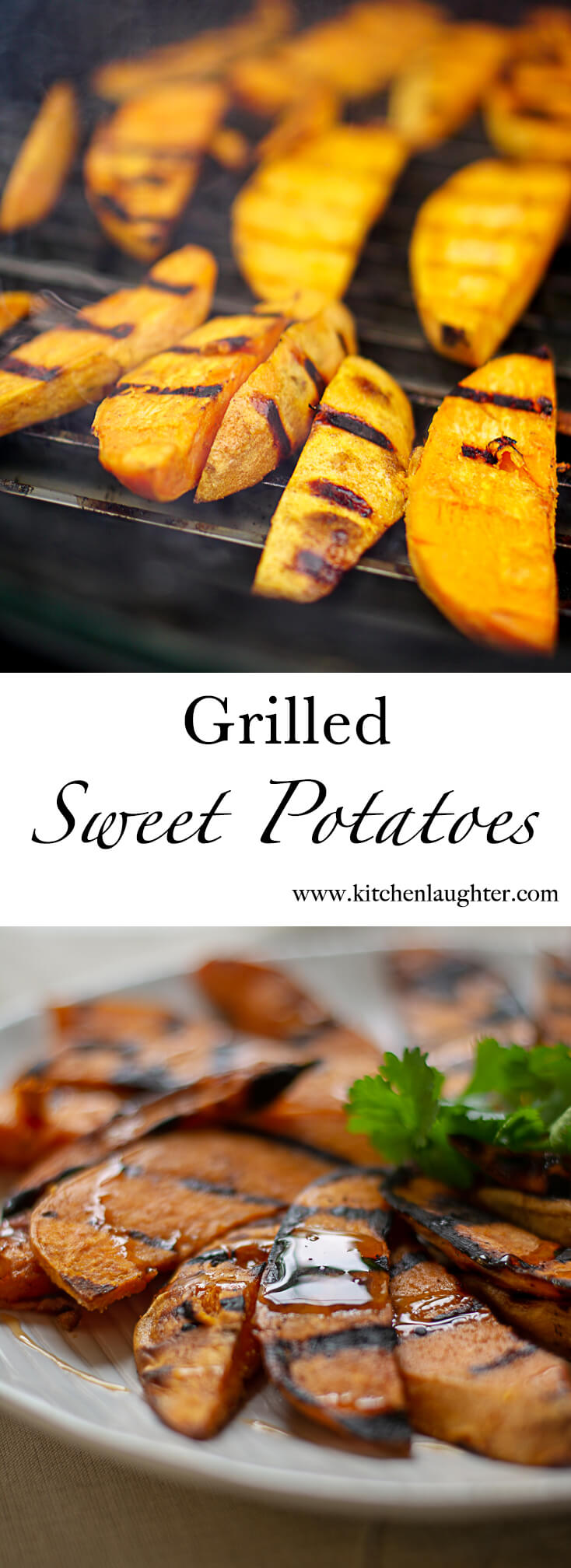 Grilled Sweet Potatoes with Honey #Grilling #SweetPotato #Honey #BGE #BigGreenEgg #GrilledVeggie #vegetable