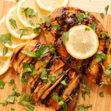Grilled Honey Lemon Chicken Sliced and Ready to Eat