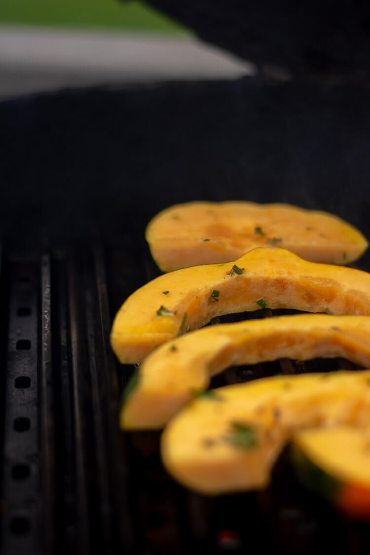 Grilled Acorn Squash with Herbs