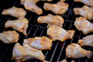Grilled Orange and Honey Sriracha Chicken on the GrillGrate