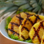 Pineapple with nice crosshatching from the grill