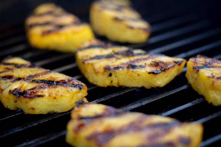 The GrillGrate does an amazing job with pineapple