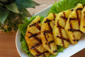 Grilled Pineapple Slices Plated and Ready to be Served