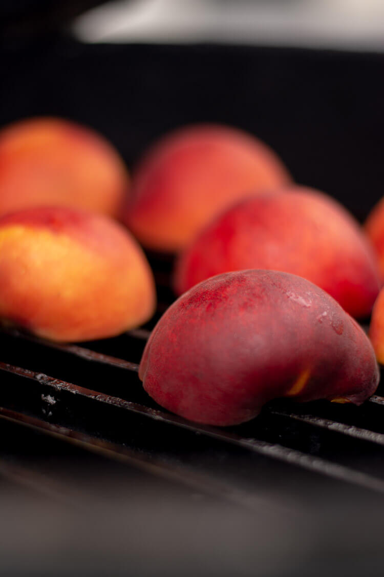 Grilling Peaches on the Big Green Egg