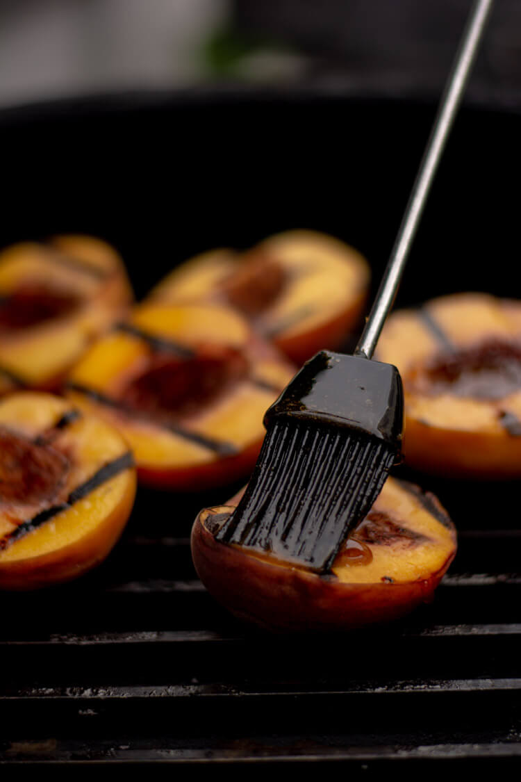 Brush a Sweet Glaze over the Grilled Peaches