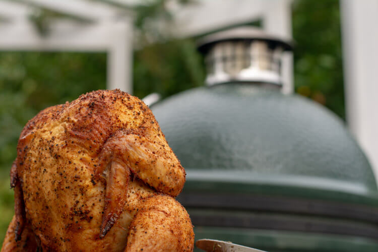 Beer Can Chicken Cooled off and Ready to Serve