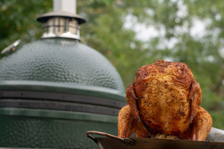 Beer Can Chicken Fresh off the Grill