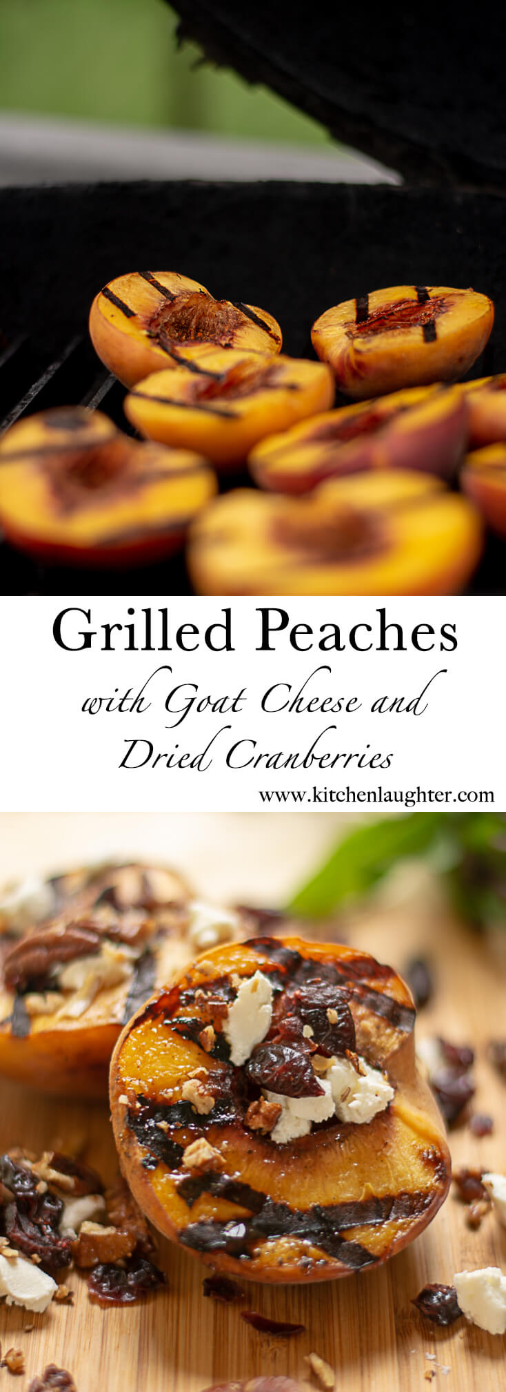 Grilled Peaches are the perfect dessert after dinner #BGE #BigGreenEgg #Dessert #grilling #peaches #bbq #barbecue #grillporn #bgenation