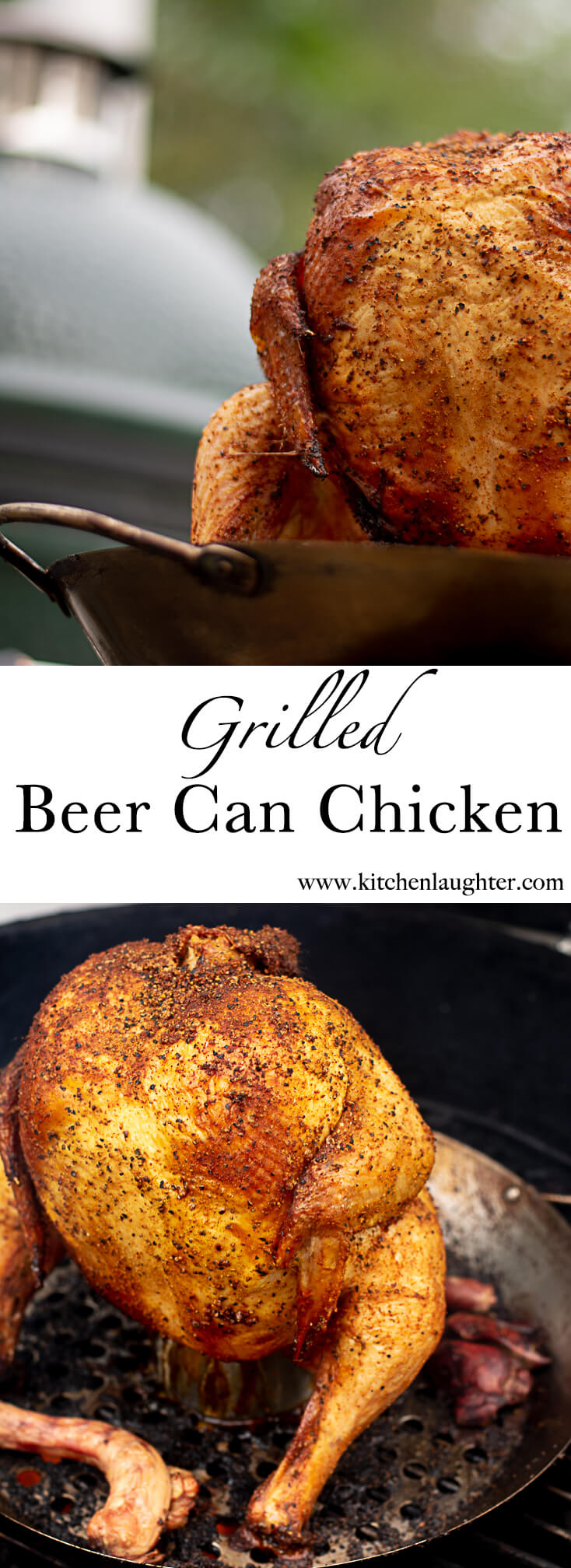 Grilled Beer Can Chicken on the Big Green Egg #Grill #Chicken #BeerCanChicken #BGE #BigGreenEgg #Beer