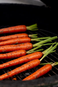 Grilled Carrots Look So Delicious as They are Ready for Grilling