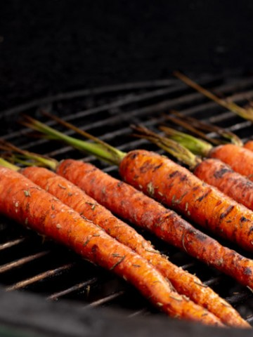 Grilled Carrots After Cooking for 10 Minutes