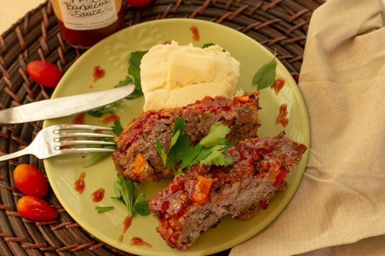 Honey Barbecue Sauce from Stonewall on the Grilled Meatloaf