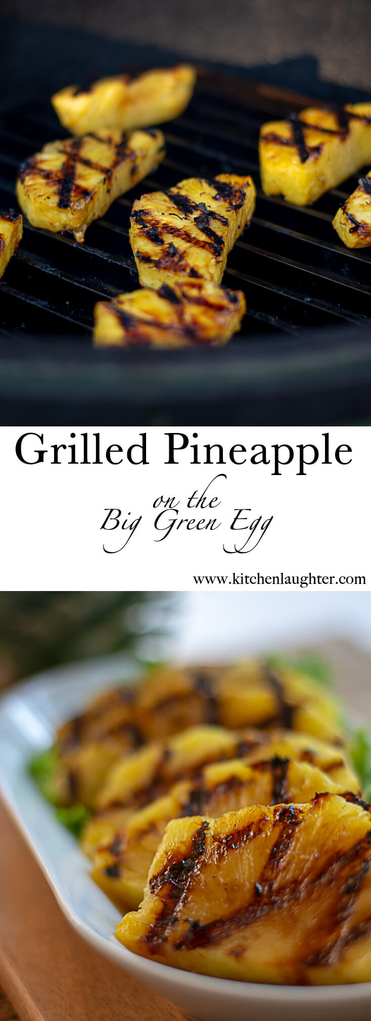 Grilled Pineapple Slices on the Big Green Egg #BGE #BigGreenEgg #Grilling #GrilledPineapple #Pineapple #GrilledFruit