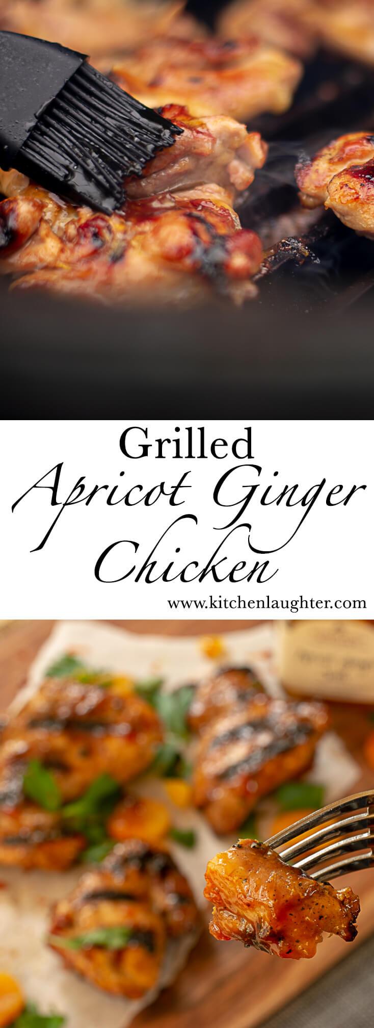 Grilled Apricot Ginger Chicken #BGE #BigGreenEgg #grill #grilling #apricot #bbq #grilledchicken #chicken