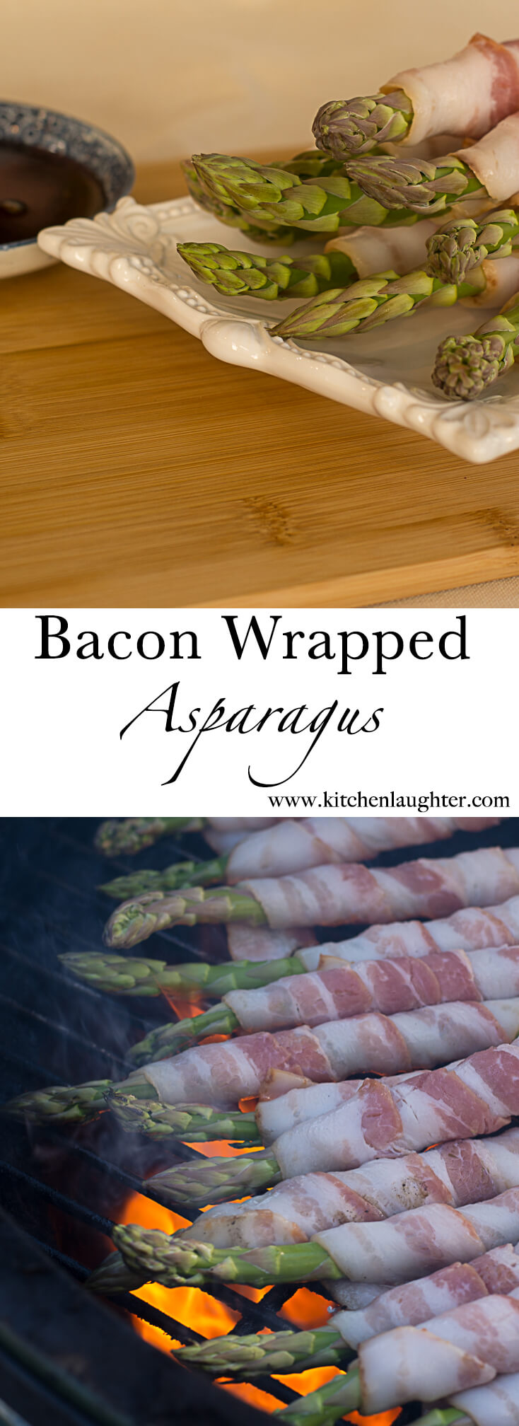 Grilled Bacon Wrapped Asparagus #grill #BGE #BigGreenEgg #Bacon #Asparagus