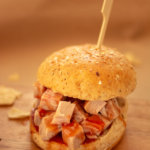 Pulled Pork Sandwich with Apricot BBQ Sauce
