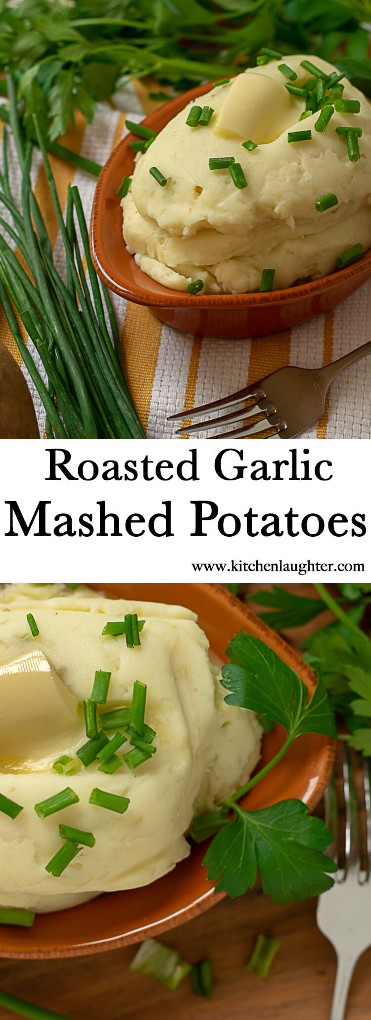 Roasted Garlic Mashed Potatoes #comfortfood #potatoes #mashedpotatoes #garlic #Creamy