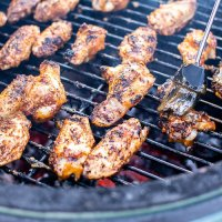 Grilled Pineapple Mango Chicken Wings