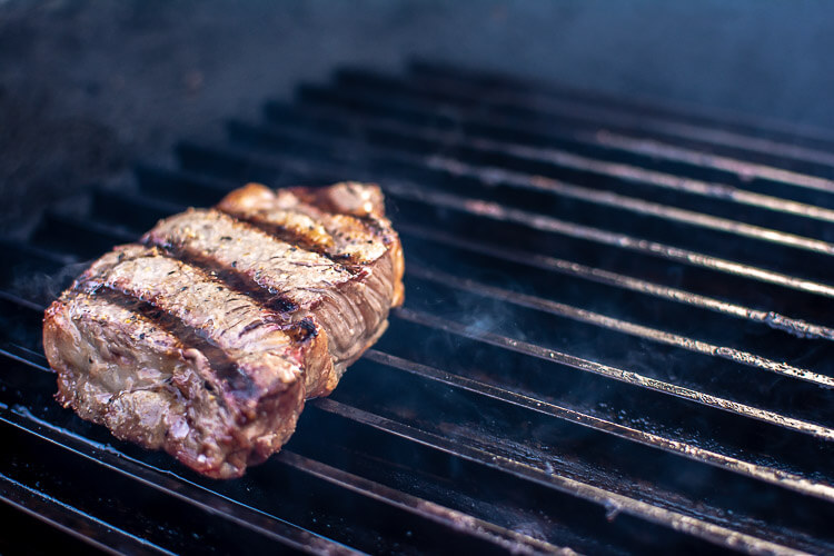 Seared Steak on the GrillGrate