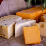 Smoked PepperJack is the the colorful cheese on the platter and has a phenomenal taste