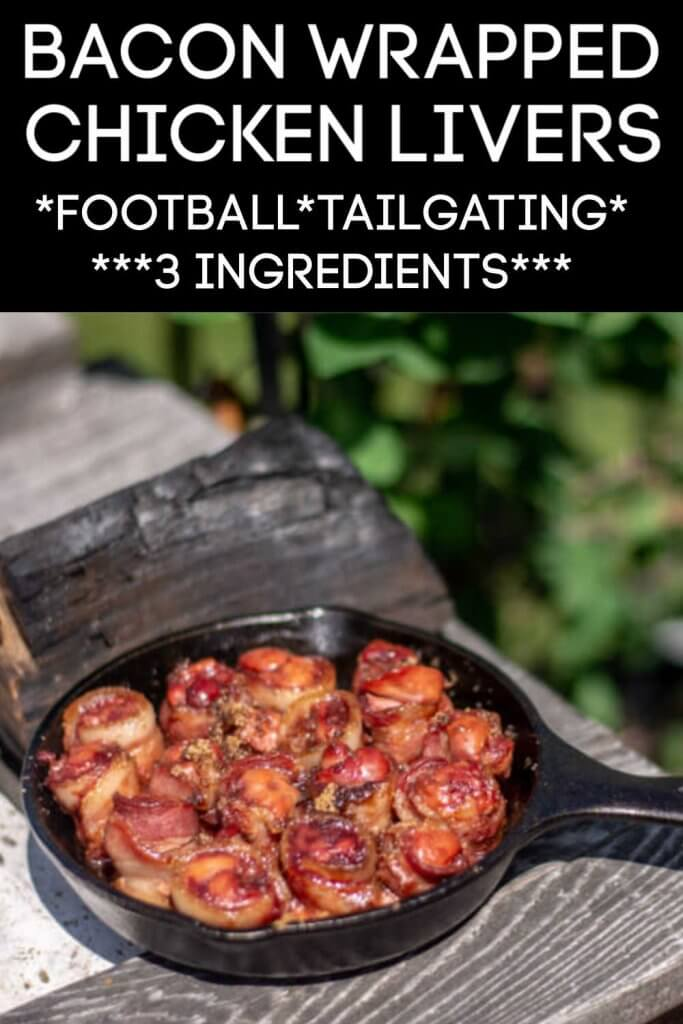 Grilled Bacon Wrapped Chicken Livers with a Dash of Brown Sugar are a delicious and fun treat. This will have your mouth watering for more! #chickenlivers #livers #grill #BGE #BigGreenEgg